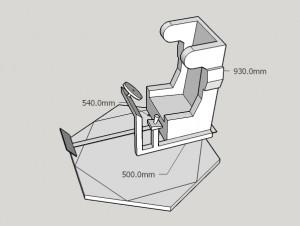 Racing Chair V1 Sketchup